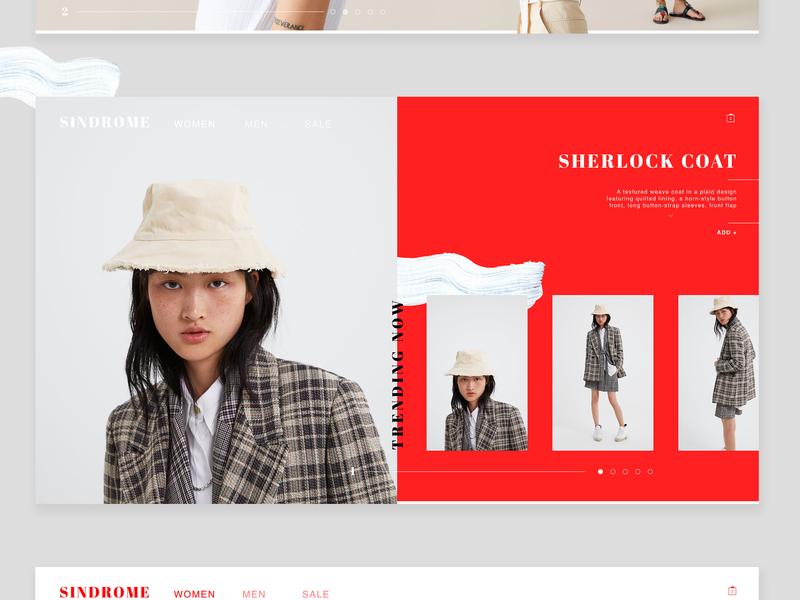 Sindrome / Fashion Web Design minimal website branding ui ux design style clothes fashion mobile web  design web