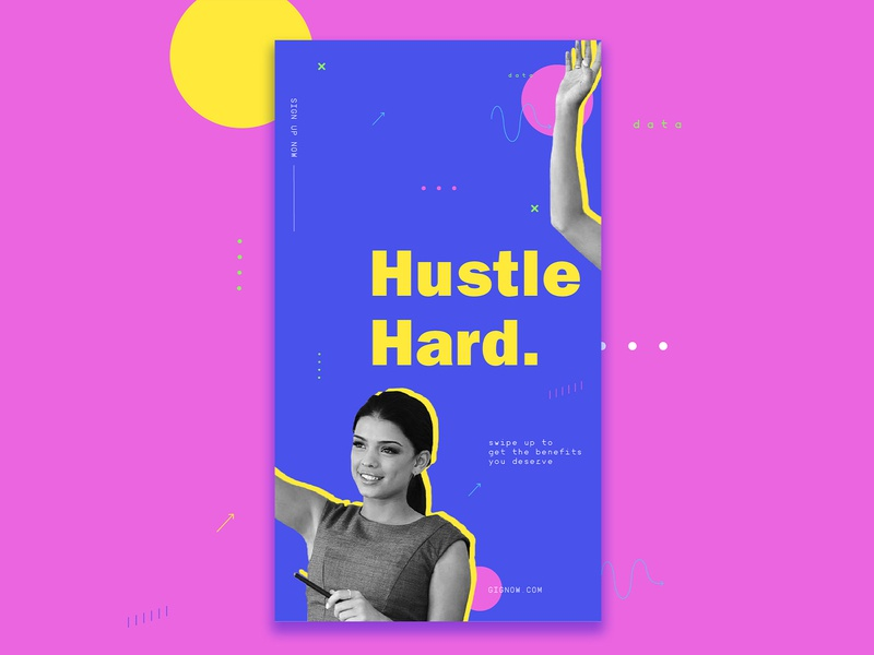 Hustle Instagram Story Ad layout design graphic illstrator marketing ad stories ig instagram stories instagram hustle