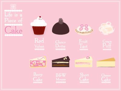I love CAKE cake icons branding