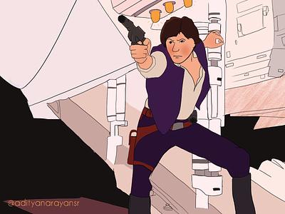 Star Wars: Episode IV – A New Hope artist calendar graphic design wacom intuos poster illustrator cc design illustration vector adobe