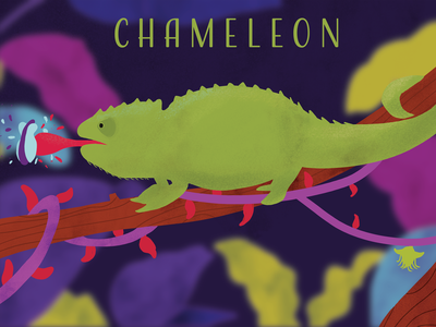 Chameleon natural nature savetrees graphic design calendar poster design color vibrant chameleon cute cute animal vector art vegan adobe