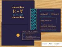 Handmade Paper Invitation Suite