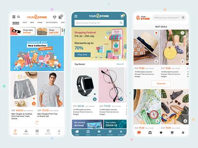 DaShop - ecommerce mobile app ui ux