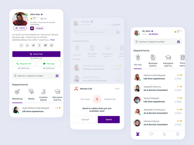 Zadcall - Calling App for Experts ux ui