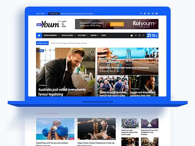 Kolyoum - Newspaper Magazine News BuddyPress AMP wp theme wordpress ux ui