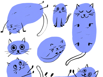 Cats (2) cats illustration ipadpro adobefresco
