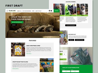 WIP - Cat Rescue Site charity cat wip web design art direction uxui ux ui