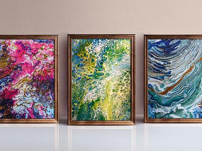 Abstract Art Prints acrylic paint pour art fluid art abstract art artwork art prints art