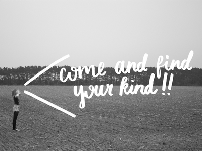 Come and find your kind! illustration art direction design print zine black and white arcade fire lettering photography