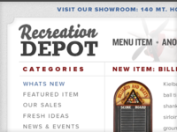 Recreation Depot Blog Layout