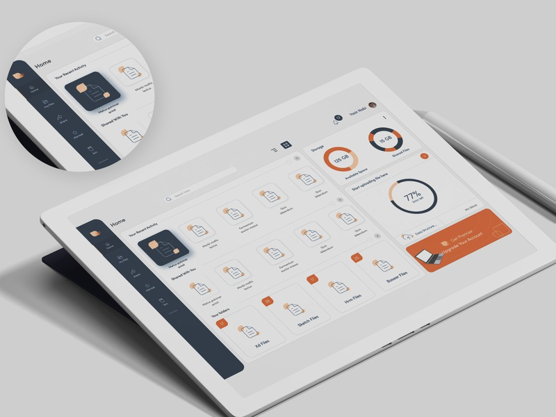 Data Storage App minimalism minimalistic uidesign mobile design ui cloud app file management file manager data storage branding ux product design interface