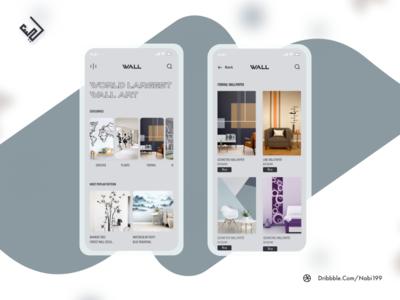 Interior mobile app interface illustration typography product design ux design mobile design interior design ideas interior designs interior design
