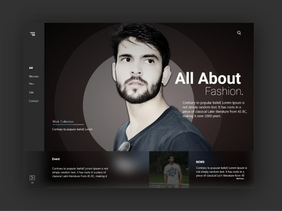 UI shopping site design