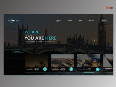 Event website UI design