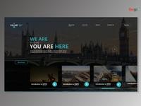 Event website UI design