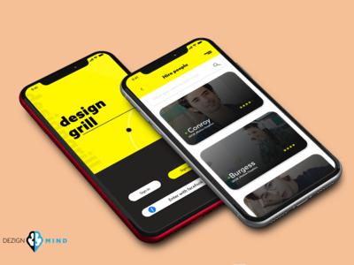 Mobile design for a Designer app