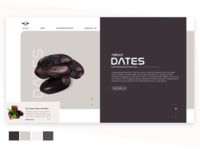 Landing page for the dates website