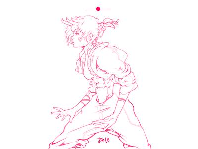 Pluto Wept digital art art pink illustration