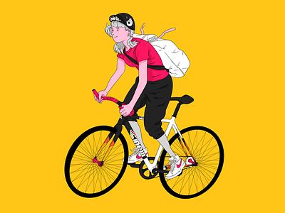 Cinelli Vigorelli cinelli illustration bike courier bike messenger