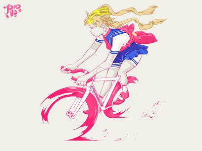 Moon Courier fixie bike messenger messenger courier sailor moon