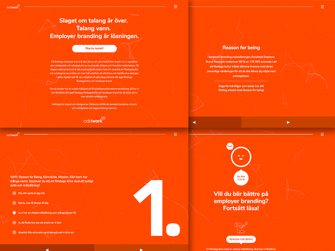 Employer Branding Test illustration quiz css html design ui
