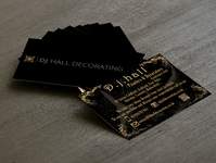 D.j Hall Decorating Business Cards