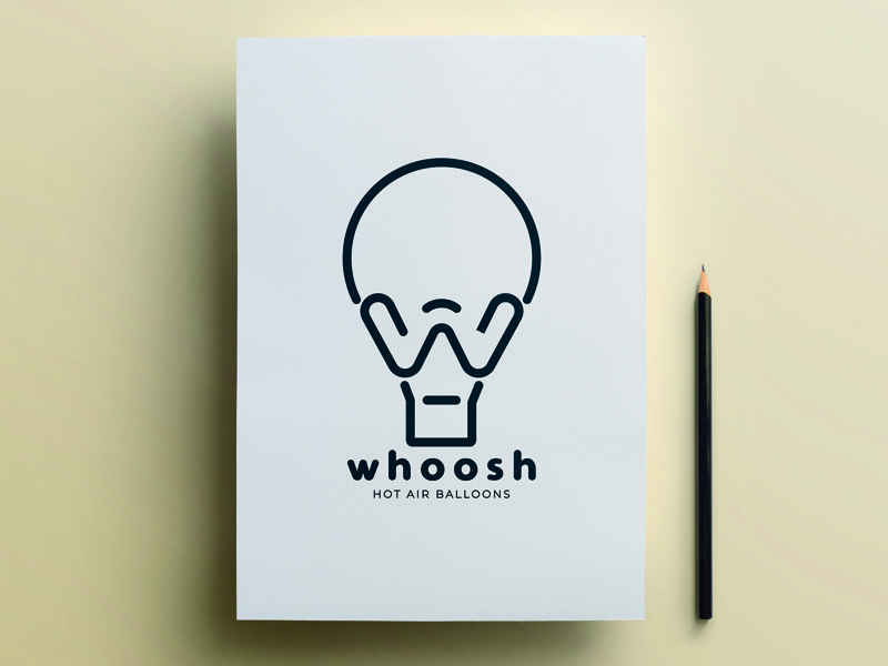 Whoosh Dribble balloons design minimal graphic design graphic logo design logo