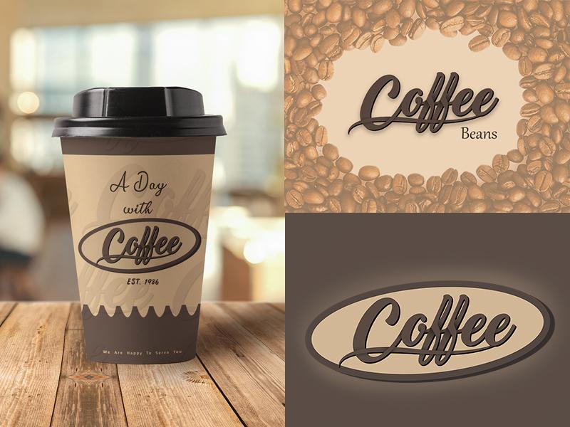Coffee Logo cafe cafetaria chololate branding mug cup creative design coffee texts typography logo