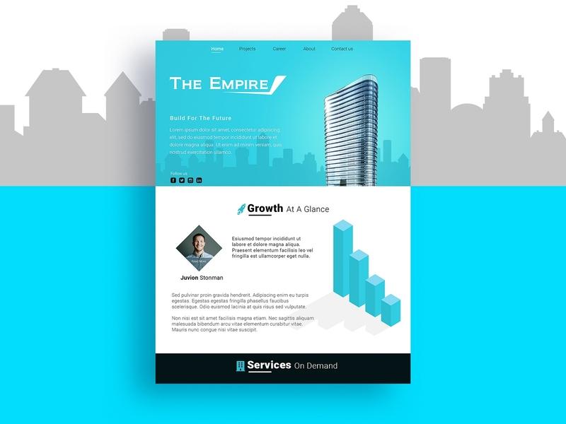 The Empire - Homepage graphics branding entrepreneur business wireframing layout frontend homepage website design ux ui web design website webpage