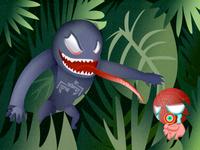 Venom and spiderman