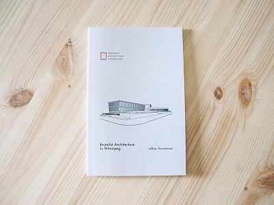 Brutalist Architecture Tour print layout booklet illustration branding architecture modernist