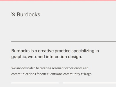Burdocks.ca responsive website webdesign development typography