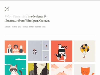 Portfolio Redesign portfolio typography website webdesign grid illustration development
