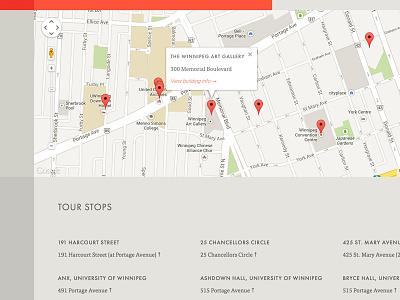Tour Map map hub website development list architecture tour grid