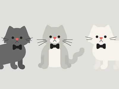 Cat Sketches bowtie fancy illustration cats