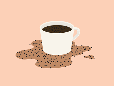 Aeropress fail coffee illustration