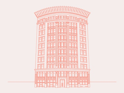 Terra Cotta Building lineart architecture terra cotta illustration