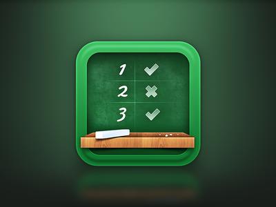 App Icon app icon ios iphone table chalk illustration school board school board chalkboard