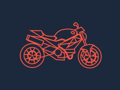 Motorcycle illustration motorcycle moto wheel illustration icon flat red blue gray design simple ducati speed fast