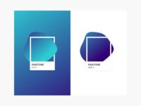 Blue Pantone gradients