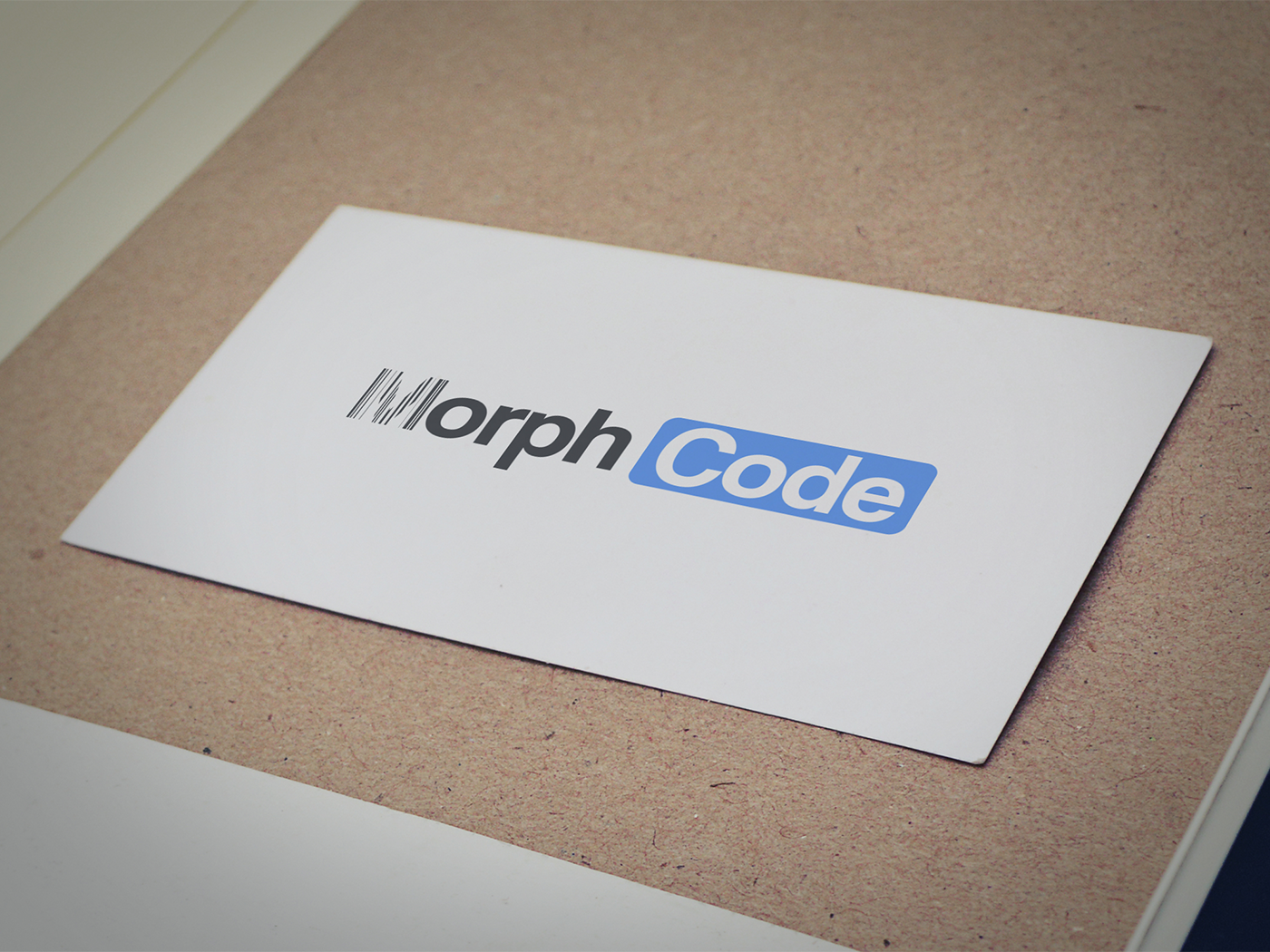 Morph Code Logo Design corporate branding clean logo text logo logo desin