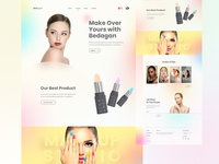 Bedagan - Landing Page lifestyle women fashion beauty cosmetic makeup landing page digital ux layout design ui