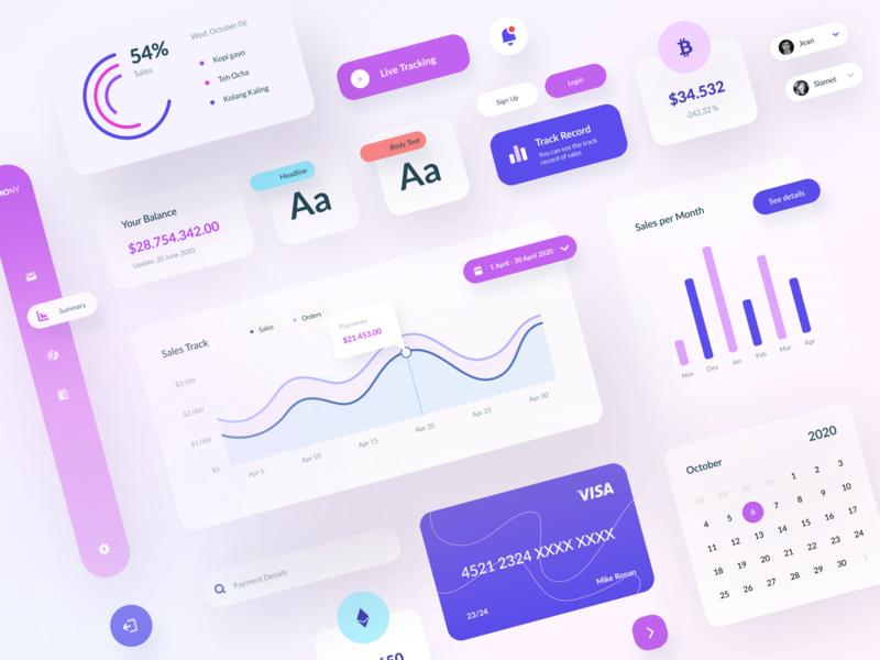 UI Element Dashboard minimalist warm element mastercard visa dashboard typography layout web application ux app design ui