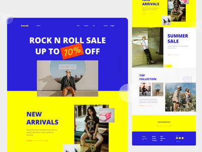 Fashion Landing Page kid women men shopping shop graphic concept colorful e-commerce landing page market outfit fashion web ux layout digital design ui