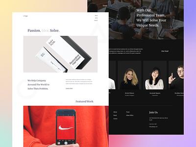 Ikigai - Landing Page portofolio interaction simple interface experience company coorporate agency studio website landing page ux branding minimalist layout design ui