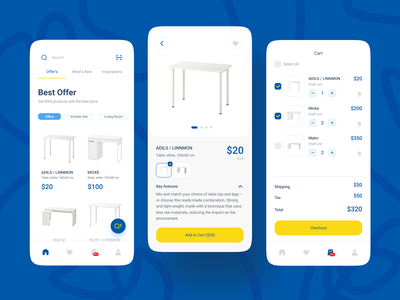 Re-Design IKEA App Concept craft ecommerce ios store shopping clean white simple marketplace ikea home real estate furniture branding minimalist ux layout app design ui