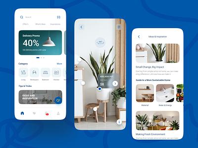 Re-Design IKEA App Concept ecommerce marketplace shop store furniture property simple branding digital minimalist app ux layout design ui
