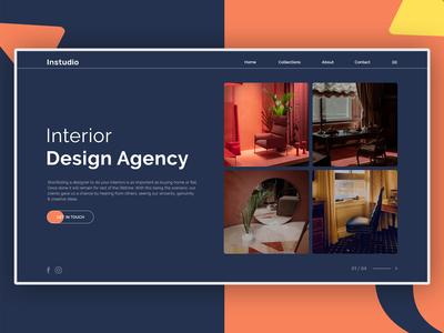 Interior design web concept minimal design