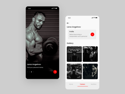 Contrast design for fitness Application