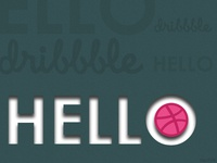 First Shot! Hello dribbble